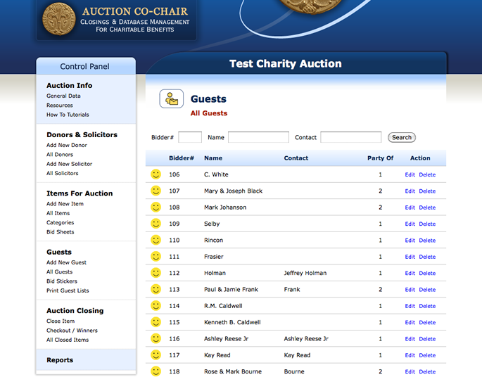 Auction Software Web App