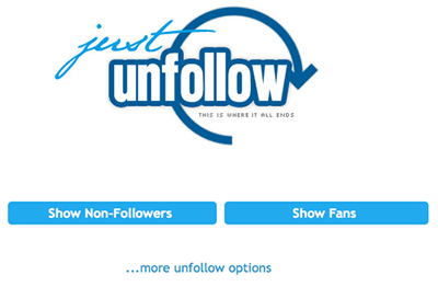 JustUnfollow Twitter management and tracking